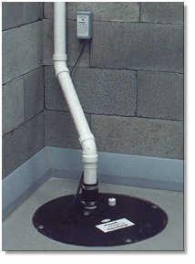 Installere en sump pumpe