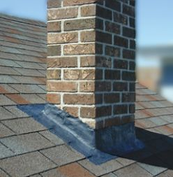 Sealing the chimney flashing