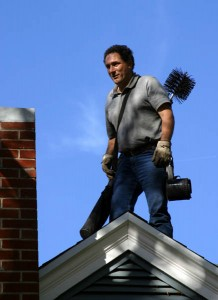Cleaning a chimney flue