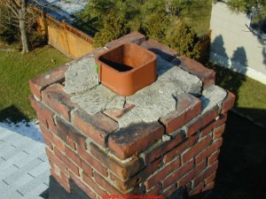 Chimney crown maintenance