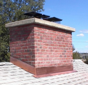 Brick chimney sealing