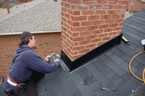 Repairing a damaged chimney