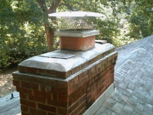Chimney cap fan installation