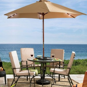 Patio cushions and umbrellas