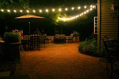 Cadenas de luz – patios al aire libre