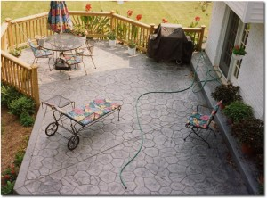 Concrete patio benefits