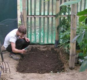 Garden seed irrigation