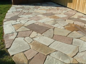 Patio flagstone designs