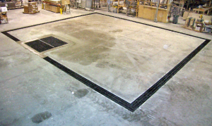 Installing floor drains in concrete