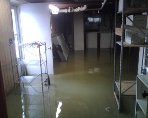 Water flooding causes in basements