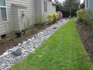 How to install french drains for back yard drainage