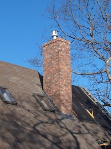 Chimney top installation process
