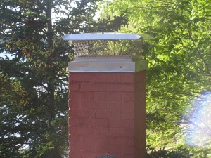 Metal chimney cap repair process