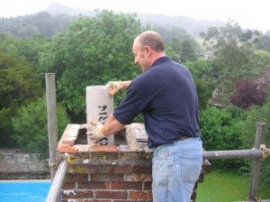 Clay chimney liner installation safety tips