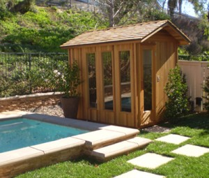 Outdoor sauna foundation preparations