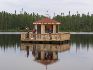 How to build an outdoor gazebo over water