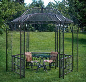 How to build a wrought iron gazebo