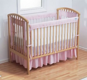 Cleaning a nursery crib
