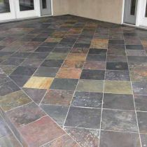 How to Put Slate Tiles on a Concrete Base