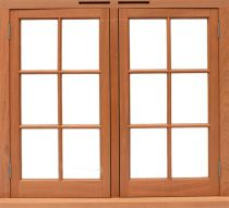 Refinish wood window frames
