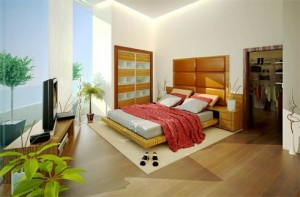 Different color schemes for a bedroom