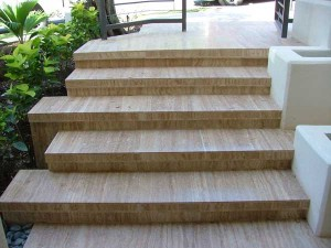 Materials and designs for outdoor staircases