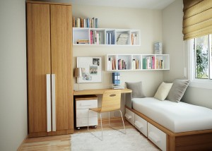 Design ideas for a small bedroom