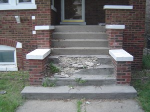 How to fix concrete steps
