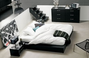 How to decorate a bedroom in black and white