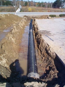 About drainage pipe installation