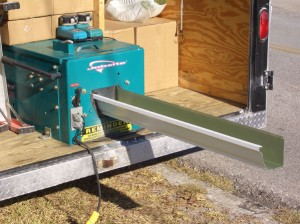 About seamless gutter machine