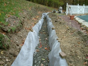 French drain issues