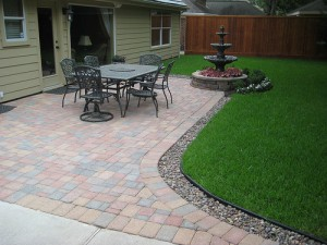 Patio drenering for paver terrasser