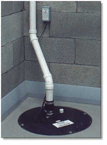 Installation d'une pompe de puisard