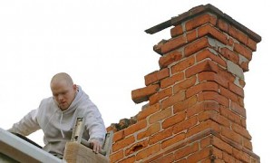 Repairing a broken chimney flue