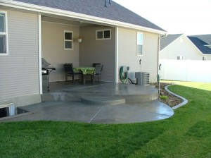 Drainage for concrete patios