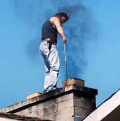 Chimney pipe cleaning