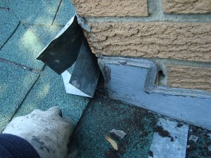Repairing chimney flashing