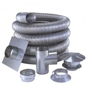 O aço inoxidável ou revestimento de chaminés de alumínio?