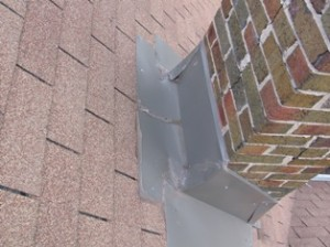Chimney flashing replacement