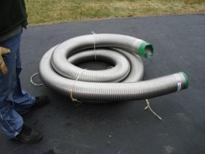 Installation d'un revêtement en acier inoxydable cheminée