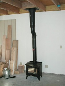 Wood stove chimney cleaning