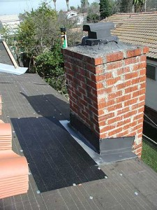 Chimney flashing maintenance