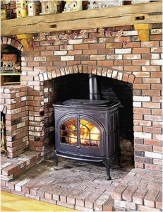 Building a wood stove block chimney