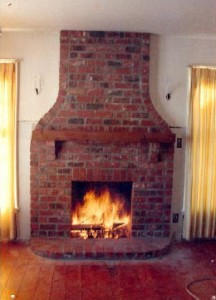 Cleaning a fireplace chimney