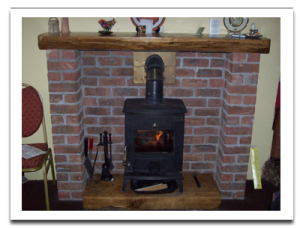 Cleaning a wood stove chimney flue