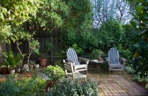 Trädgård uteplats design tips