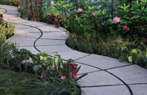 Stone gården gångvägar
