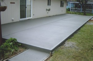 Betonnen patio bouw