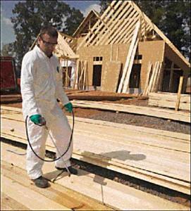 Het beschermen van hout uit termieten